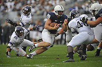 06 October 2012:  Penn State RB Zach Zwinak (28) runs up field. The Penn State Nittany Lions defeated the Northwestern Wildcats 39-28 at Beaver Stadium in State College, PA.