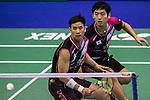 Solgyu CHOI & KO Sung Hyun (KOR) vs Hiroyuki ENDO & Yuta WATANABE of Japan during the YONEX-SUNRISE Hong Kong Open Badminton Championships 2016 at the Hong Kong Coliseum on 24 November 2016 in Hong Kong, China. Photo by Marcio Rodrigo Machado / Power Sport Images