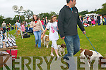 Walking the dogs at the dog show which took place at the Kilgarvan Agricultural Show on Sunday last.