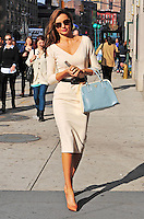 Miranda Kerr stepping out of her New York City apartment