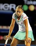 Jelena Dokic (AUS) in action in her match on day 3 Australian Open tennis,Anna Chakvetadze v Jelena Dokic (AUS)  21-01-09