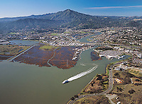 aerial photograph, Larkspur, Marin County, California