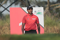 S.S.P Chawrasia (IND) in action on the 12th during Round 2 of the Hero Indian Open at the DLF Golf and Country Club on Friday 9th March 2018.<br /> Picture:  Thos Caffrey / www.golffile.ie<br /> <br /> All photo usage must carry mandatory copyright credit (&copy; Golffile | Thos Caffrey)
