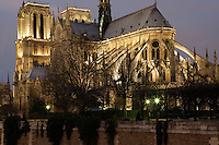 France, Paris, Ile de la Cité, Notre Dame de Paris, 1163 - 1345, initiated by the bishop Maurice de Sully Picture by Manuel Cohen