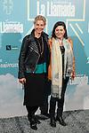 Belen Rueda (L) attends La Llamada theater play in Madrid, Spain. April 15, 2015. (ALTERPHOTOS/Victor Blanco)