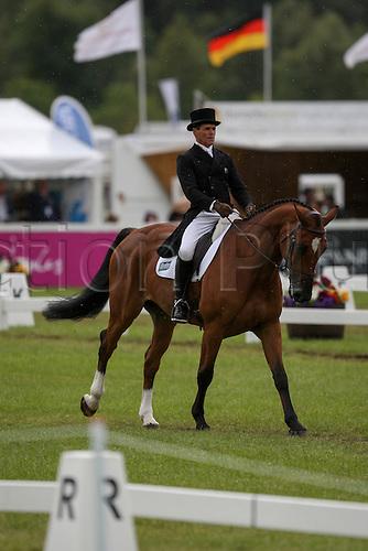 22.08.2014. Blair Atholl, Scotland. Blair Castle International Horse Trials.   Blyth Tait (NZL) riding Bear Necessity V in the CCI Dressage.