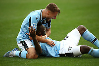 Football, Serie A: S.S. Lazio - Spal, Olympic stadium, Rome, February 2, 2020. <br /> Lazio's Felipe Caicedo (r) celebrates after scoring with his teammate Ciro Immobile (r) during the Italian Serie A football match between S.S. Lazio and Spali at Rome's Olympic stadium, Rome , on February 2, 2020. <br /> UPDATE IMAGES PRESS/Isabella Bonotto