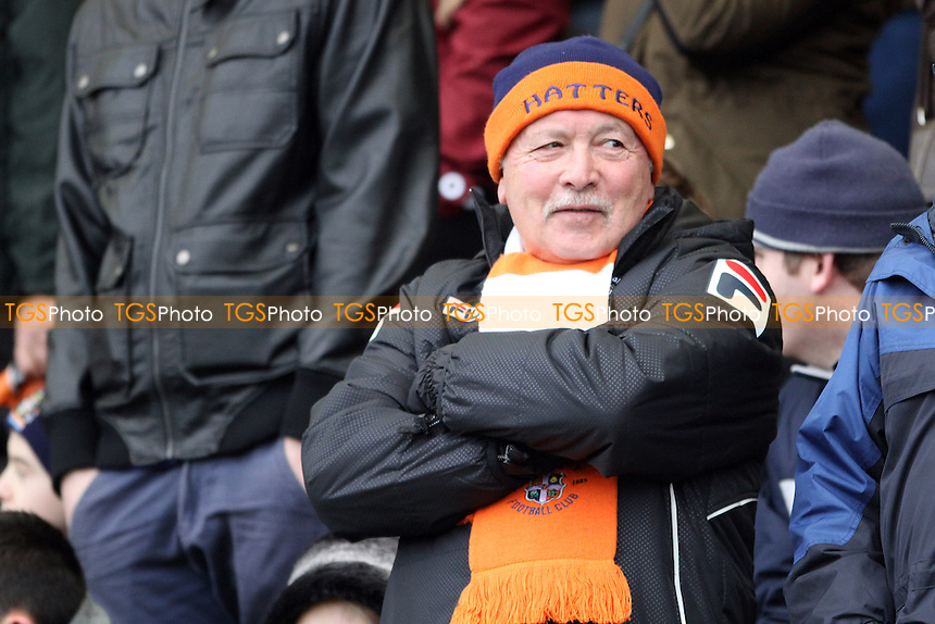 A Luton fan before the game - Cambridge United vs Luton Town - FA Challenge Cup 3rd Round Football at the Abbey Stadium, Cambridge - 03/01/15 - MANDATORY CREDIT: Mick Kearns/TGSPHOTO - Self billing applies where appropriate - contact@tgsphoto.co.uk - NO UNPAID USE