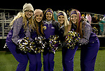 SIOUX FALLS, SD - OCTOBER 25: Cheerleaders from Winner High School pose for a photo before the Warriors playoff game against Sioux Falls Christian Thursday night at Bob Young Field in Sioux Falls. (Photo by Dave Eggen/Inertia)