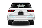 Straight rear view of 2017 Audi Q7 Premium  5 Door SUV stock images
