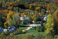 village, fall, East Topsham, VT, Vermont, Scenic view of the village of East Topsham in the autumn.