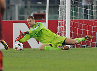 Bayer's Manuel Neuer during the Champions League Group E soccer match between As Roma and FC Bayern Munchen at the Olympic Stadium in Rome october 21 , 2014.