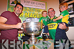 Kerry footballer Aidan O'Mahony with Mike, Johnny and Matthew Twomey in Top of Coom last Thursday night.