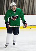 Ian Cole (US Blue - 8) - US players take part in practice on Friday morning, August 8, 2008, in the NHL Rink during the 2008 US National Junior Evaluation Camp and Summer Hockey Challenge in Lake Placid, New York.