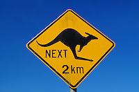 Fun kangeroo signage in country of Australia