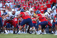 20 October 2007: Stanford Cardinal Tim Mattran (62), Mikal Brewer (72), and Ben Muth (76) during Stanford's 21-20 win against the Arizona Wildcats at Arizona Stadium in Tucson, AZ.