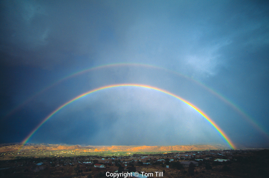 Rainbows over Spanish Valley   Moab, Utah