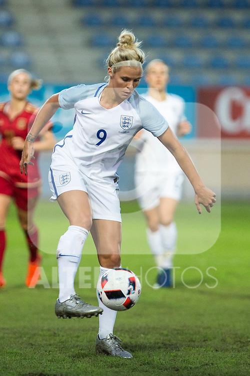 England's Rachel Daly during the frendly match between woman teams of  Spain and England at Fernando Escartin Stadium in Guadalajara, Spain. October 25, 2016. (ALTERPHOTOS/Rodrigo Jimenez)