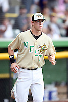 June 24, 2009: Dusty Coleman of the Kane County Cougars at the 2009 Midwest League All Star Game at Alliant Energy Field in Clinton, IA.  Photo by: Chris Proctor/Four Seam Images