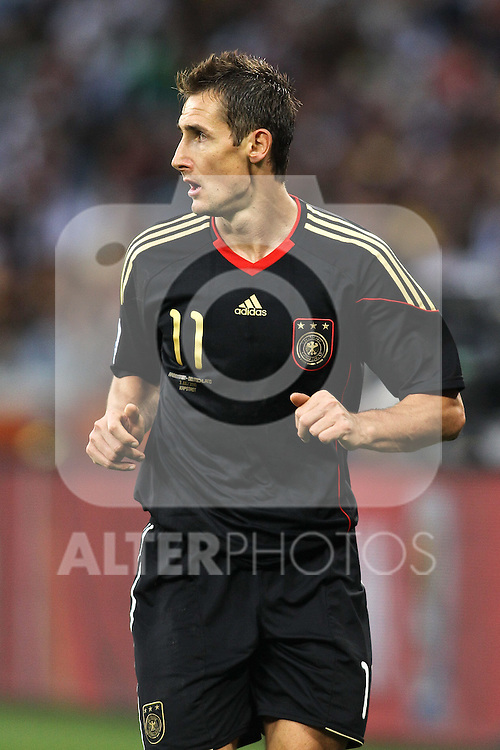 03.07.2010, CAPE TOWN, SOUTH AFRICA,Miroslav Klose of Germany during the Quarter Final,  Match 59 of the 2010 FIFA World Cup, Argentina vs Germany held at the Cape Town Stadium Foto © nph / Kokenge
