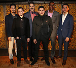 Marcus Ho, Ethan Dubin, Christopher Innvar, Brian Quijada, Gabriel Brown, Tyler Lea attends the Opening Night Press Reception for the Roundabout Theatre Company/Roundabout Underground production of 'Bobbie Clearly' at The Black Box Theatre on April 3, 2018 in New York City.