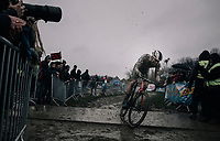 Mathieu van der Poel (NED/Corendon-Circus) in his final (winning) lap<br /> <br /> Elite Men's race<br /> GP Sven Nys / Belgium 2018
