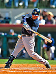 2 March 2009: New York Yankees' center fielder Nick Swisher at bat during a Spring Training game against the Houston Astros at Osceola County Stadium in Kissimmee, Florida. The teams played to a 5-5, 9-inning tie. Mandatory Photo Credit: Ed Wolfstein Photo