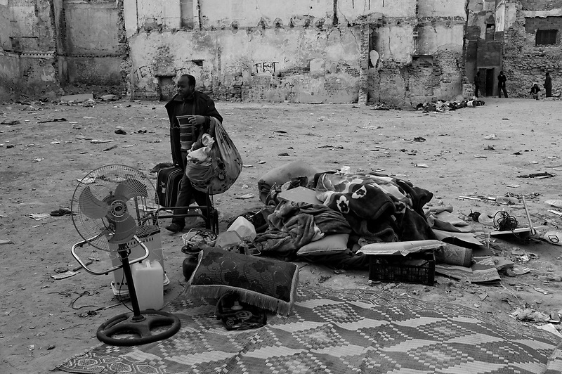 Tripoli, Libya, March 14, 2011.African immigrants live in dire conditions in the ancient city medina.