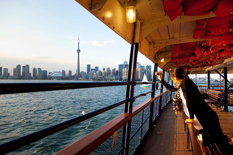 The ferry ride from the Toronto Ferry Docks at the foot of Bay Street and Queens Quay to Center Island affords lovely views of the skyline of downtown Toronto and CN Tower.