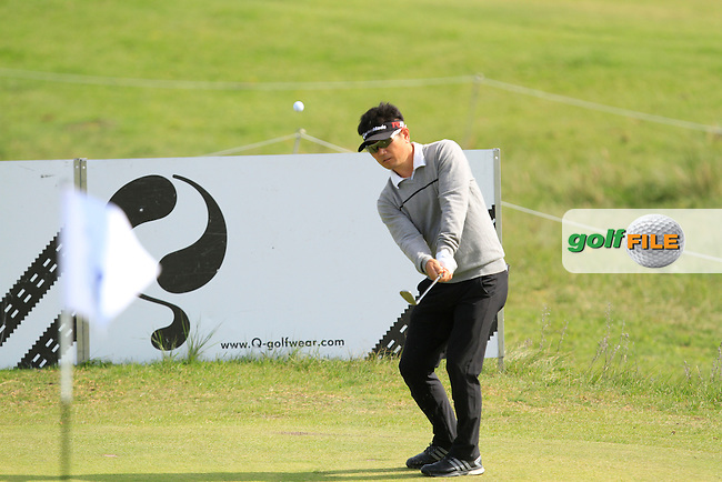 Y.E.Yang (KOR) on the 3rd green during Round 1 of the 2015 KLM Open at the Kennemer Golf &amp; Country Club in The Netherlands on 10/09/15.<br /> Picture: Thos Caffrey | Golffile