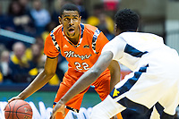 Morgantown, WV - NOV 18, 2017: Morgan State Bears forward Phillip Carr (22) in action during game between West Virginia and Morgan State at WVU Coliseum Morgantown, West Virginia. (Photo by Phil Peters/Media Images International)