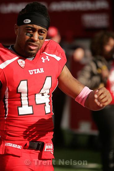 Trent Nelson     The Salt Lake Tribune.Utah receiver Reggie Dunn at the end of the game, Utah vs. Arizona State, college football at Rice-Eccles Stadium in Salt Lake City, Utah, Saturday, October 8, 2011.