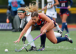 EASTON, MA - NOVEMBER 20:  Mary Spisak (24) of Shippensburg University, right, battles Kaycee Zelkovsky (24) of LIU Post for the ball during the NCAA Division II Field Hockey Championship at WB Mason Stadium on November 20, 2016 in Easton, Massachusetts.  Shippensburg University defeated LIU Post 2-1 for the national title. (Photo by Winslow Townson/NCAA Photos via Getty Images)