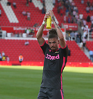 Leeds United's Kalvin Phillips applauds the fans at the final whistle <br /> <br /> Photographer Stephen White/CameraSport<br /> <br /> The Premier League - Stoke City v Leeds United - Saturday August 24th 2019 - bet365 Stadium - Stoke-on-Trent<br /> <br /> World Copyright © 2019 CameraSport. All rights reserved. 43 Linden Ave. Countesthorpe. Leicester. England. LE8 5PG - Tel: +44 (0) 116 277 4147 - admin@camerasport.com - www.camerasport.com