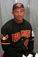 Rochester Red Wings Alex Romero during media day at Frontier Field on April 5, 2006 in Rochester, New York.  (Mike Janes/Four Seam Images)