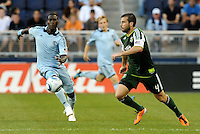 Mike Chabala (4) defender Portland Timbers in action... Sporting Kansas City defeated Portland Timbers 3-1 at LIVESTRONG Sporting Park, Kansas City, Kansas.