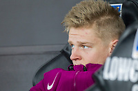 Oleksandr Zinchenko of Manchester City on the bench ahead of the EPL - Premier League match between Swansea City and Manchester City at the Liberty Stadium, Swansea, Wales on 13 December 2017. Photo by Mark  Hawkins / PRiME Media Images.