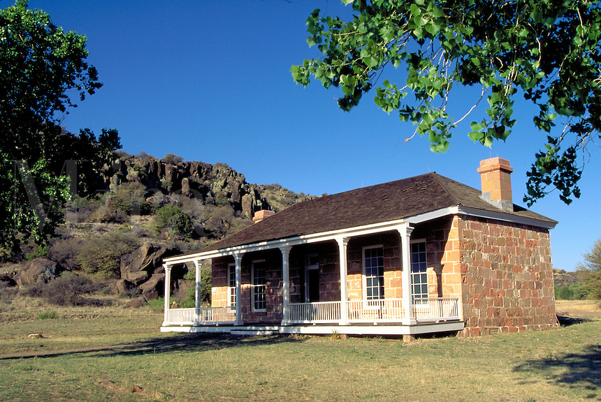 Fort Davis National Historic Site, National Park Service. Cavalry post. Officers quarters. Fort Davis Texas.