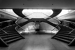 Staircase inside the Metropolitan Government Building in Shinjuku, Tokyo, Japan