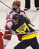 Johnny McDermott (BU - 28), Patrick Kramer (Merrimack - 27) - The visiting Merrimack College Warriors defeated the Boston University Terriers 4-1 to complete a regular season sweep on Friday, January 27, 2017, at Agganis Arena in Boston, Massachusetts.The visiting Merrimack College Warriors defeated the Boston University Terriers 4-1 to complete a regular season sweep on Friday, January 27, 2017, at Agganis Arena in Boston, Massachusetts.