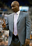 January 14, 2012:   Nevada Wolf Pack coach David Carter talks to his bench in their game against the Hawai'i Rainbow Warriors during their NCAA basketball contest played at Lawlor Events Center on Saturday night in Reno, Nevada.