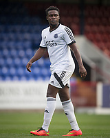 Manny Oyeleke of Aldershot Town during the pre season friendly match between Aldershot Town and Chelsea U23 at the EBB Stadium, Aldershot, England on 19 July 2017. Photo by Andy Rowland / PRiME Media Images.