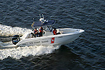 The U.S. Coast Guard patrols the inland and coastal waterways of the United States.