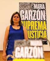 Maria Garzón, hija del Juez Baltasar Garzón , ha presentado un libro sobre la injusta condena a su padre. ------------------------------Maria Garzon, daughter of Judge Baltasar Garzon, has launched her book about the unjust condemnation of his father. NORTEPHOTO.COM