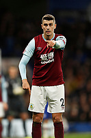 11th January 2020; Stamford Bridge, London, England; English Premier League Football, Chelsea versus Burnley; Matthew Lowton of Burnley - Strictly Editorial Use Only. No use with unauthorized audio, video, data, fixture lists, club/league logos or 'live' services. Online in-match use limited to 120 images, no video emulation. No use in betting, games or single club/league/player publications