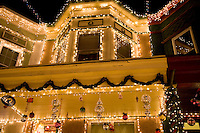 Baltimore, Maryland's famous 34th Street in the Hampden neighborhood presents a Christmas light display for the 64th year on 23 December 2011.