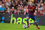 Football Season 2009-2010. Barcelona's player Andres Iniesta during their Spanish first division soccer match at Camp Nou stadium in Barcelona October 25, 2009