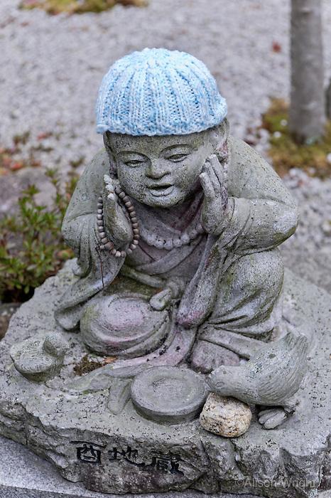 Mt. Misen Buddhist Temple. Miyajima Island, Hiroshima. <br /> Jizo statues.
