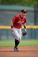 Altoona Curve third baseman Hunter Owen (10) during an Eastern League game against the Erie SeaWolves and on June 4, 2019 at UPMC Park in Erie, Pennsylvania.  Altoona defeated Erie 3-0.  (Mike Janes/Four Seam Images)