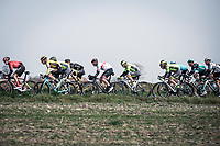Later race winner Alexander Kristoff (NOR/UAE) early race hidden in the peloton. <br /> <br /> <br /> 82nd Gent – Wevelgem in Flanders Fields 2019 (1.UWT)<br /> Deinze – Wevelgem: 251,5km<br /> ©kramon